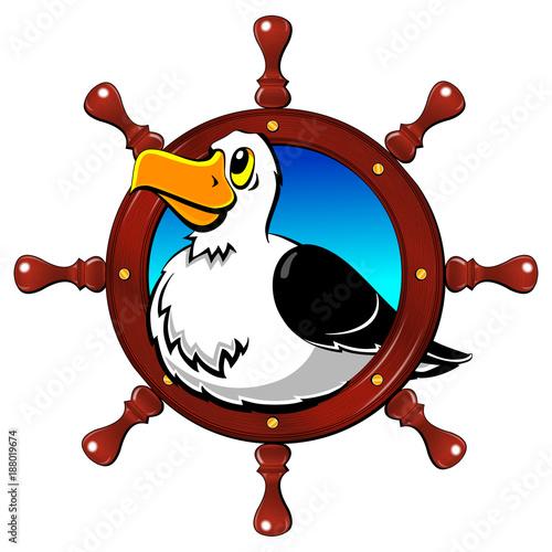 Fotografia, Obraz  Albatross, a large seagull