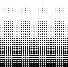 Gradient Halftone Dots Background. Pop. Red Texture. Vector Illustration