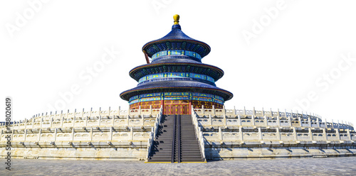 In de dag Peking The Qinian Hall. Located in The Temple of Heaven, Beijing, China.