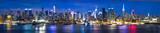 Fototapeta Nowy Jork - New York City Manhattan Skyline Panorama bei Nacht