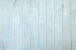 canvas print picture - Light blue wooden striped walpaper. Vintage weathered background.