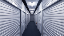 Interior Metal Storage Units. ...