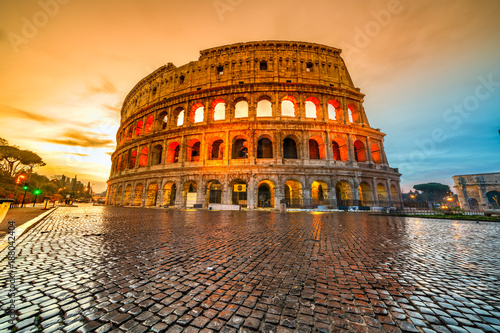 Photo sur Toile Europe Centrale Rome, Coliseum. Italy.