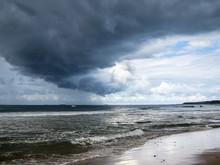 Storm Cloud Over Beach