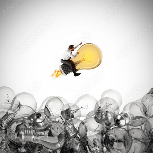Fotografia  Great business idea. 3D Rendering