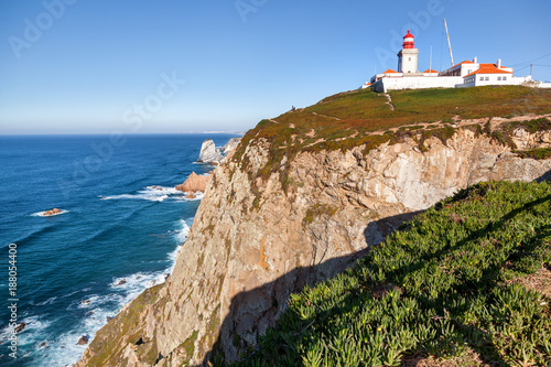 Deurstickers Canarische Eilanden Beautiful ocean landscape, rocks and waves. Cape Roca, Portugal, The westernmost point of Europe and a popular destination for travel