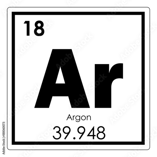 Argon chemical element Canvas Print