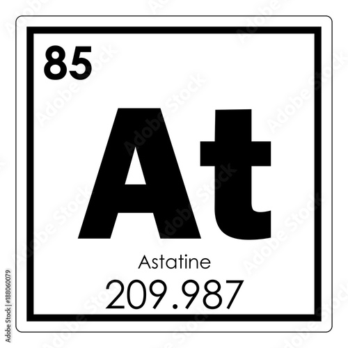 Astatine chemical element Canvas Print
