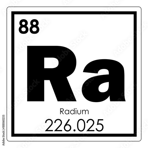 Photo Radium chemical element