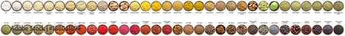 Door stickers Aromatische large set of spices isolated on white. collection Seasonings in cups