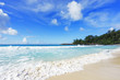 beautiful paradise beach at the police bay, seychelles 33