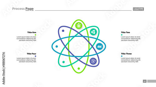 Four steps atom model slide template buy this stock vector and four steps atom model slide template ccuart Image collections