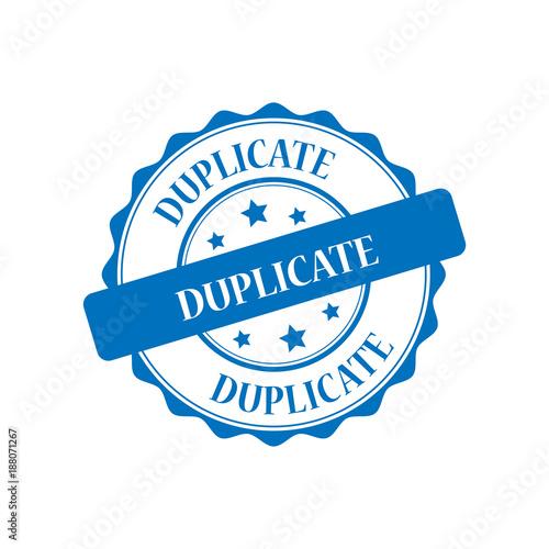 Fotografie, Obraz  Duplicate blue stamp illustration