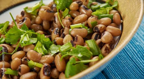 Obraz na plátne Southern Style Vegan Black Eyed Peas