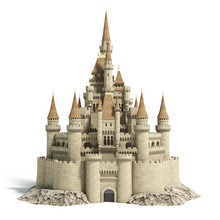 Old Fairytale Castle On The Hi...