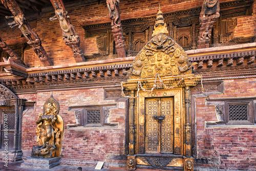 Yamuna Statue and Taleju Shrine, Mul Chowk, Patan-Durbar-Square, Lalitpur, Nepal