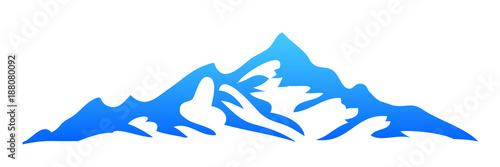 Printed kitchen splashbacks Purple Silhouette mountain on white background – stock vector