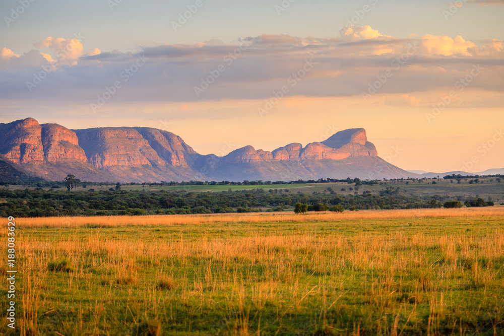 Fototapety, obrazy: Sunrise over the waterberg mountains, South Africa