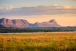 canvas print picture - Sunrise over the waterberg mountains, South Africa