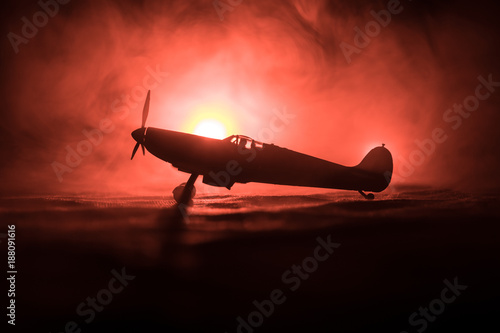 British jet-propelled model plane in possession Canvas Print