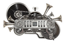 Steampunk Old Metal Collage Of...