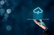Leinwandbild Motiv Cloud computing