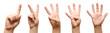 Leinwanddruck Bild - Kids hands show fingers.
