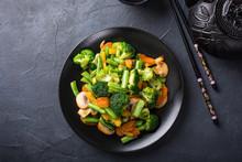 Hot Stir Fried Vegetables On B...