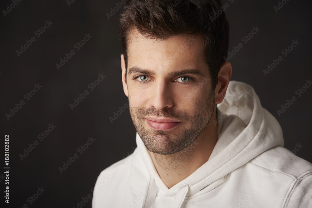 Fototapeta Confident young man portrait
