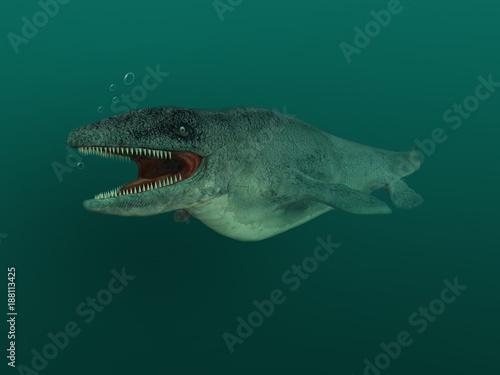 Photo Ilustración de un Mosasaurus