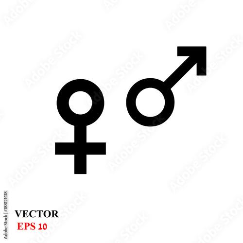 Web Line Icon Gender Symbol Symbols Of Men And Women Buy This
