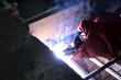 Welding of the reinforcing steel rods for reinforced concrete