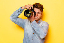 Handsome Young Photographer Wi...