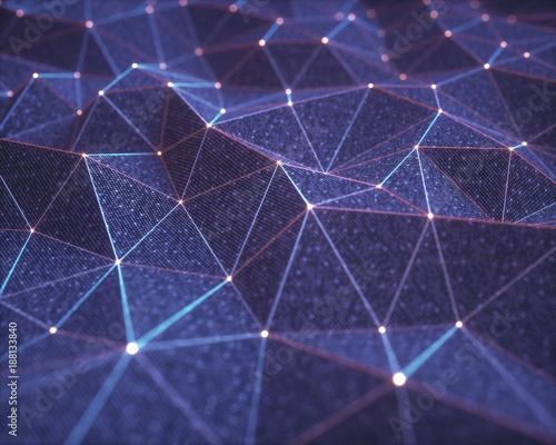 Fotografia  3D illustration, abstract background, technology concept