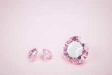 Three Pink Diamonds Macro