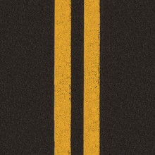 Double Yellow Line On Road Bac...