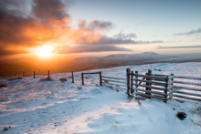 Dawn Over Ingleborough, Yorkshire Dales, UK