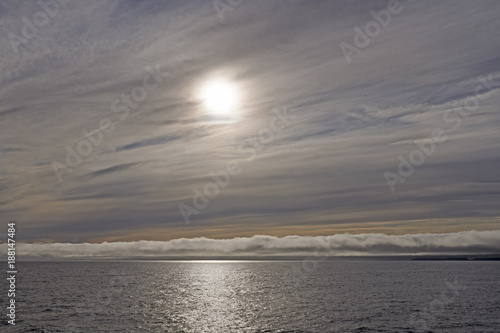 High and Low Clouds on the Ocean Canvas Print