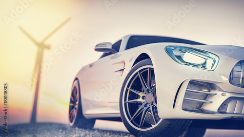 Photo  sport car scene.