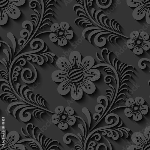 elegancki-3d-bezszwowy-kwiecisty-wzor-wektor