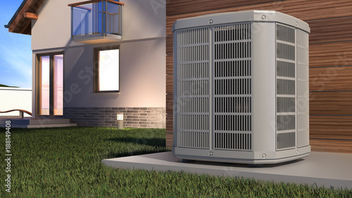 Tela Air heat pump and house