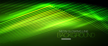 Neon Green Smooth Wave Digital...
