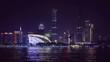 Tourist boats sailing along the Pearl River at night, China