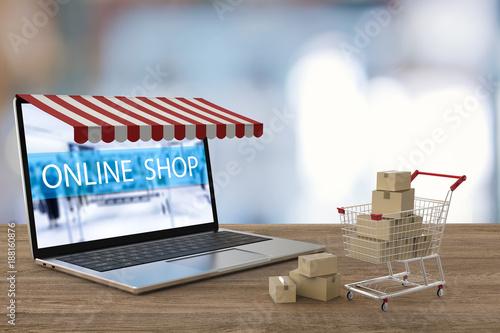 Fotomural  online shopping concept