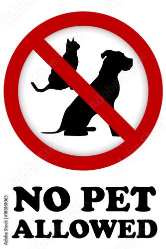 Fotografie, Obraz No pet allowed sign