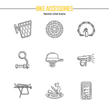 Set Of Vector Outline Icons Wi...