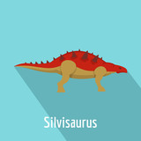 Fototapeta Dinusie - Silvisaurus icon. Flat illustration of silvisaurus vector icon for web.