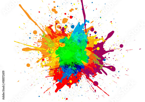 Foto auf Leinwand Formen abstract vector paint color design background. illustration vector design