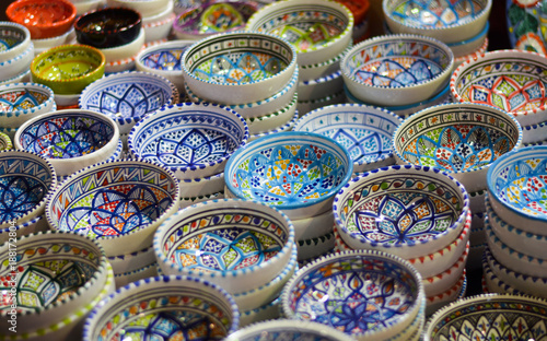 Fotografie, Tablou Souvenirs in the oriental markets