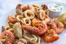 Mixed Deep-fried Fish, Shrimp ...